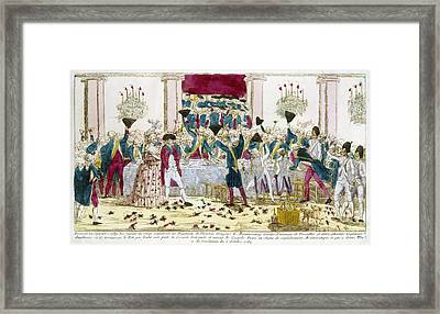 France: Versailles, 1789 Framed Print by Granger