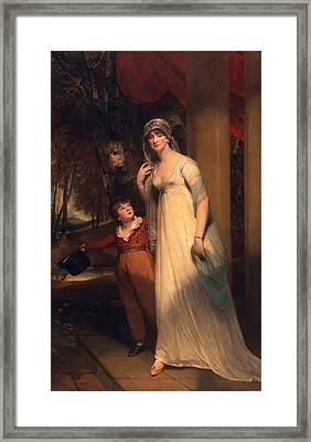 Frances Borlase Later Frances Grenfell And Pascoe George Norman Grenfel Framed Print by Sir Martin Archer Shee