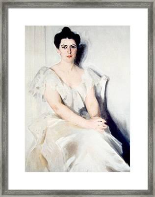 Frances Folsom Cleveland 1864-1947 Framed Print by Everett