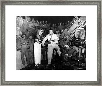 Frances Langford & Bob Hope Entertain Framed Print by Everett