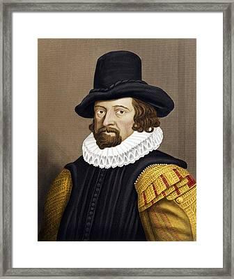 Francis Bacon, English Philosopher Framed Print by Maria Platt-evans