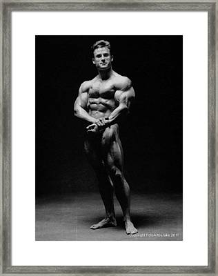 Francis Benfatto Muscle In Shadows Framed Print by Jake Hartz