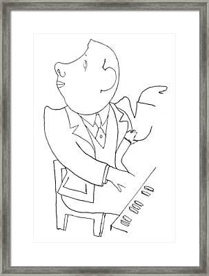 Francis Poulenc (1899-1963) Framed Print by Granger