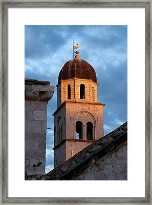 Franciscan Monastery Tower At Sunset Framed Print