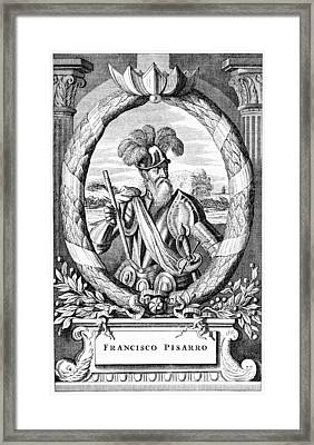 Francisco Pizarro, Spanish Explorer Framed Print by Cci Archives