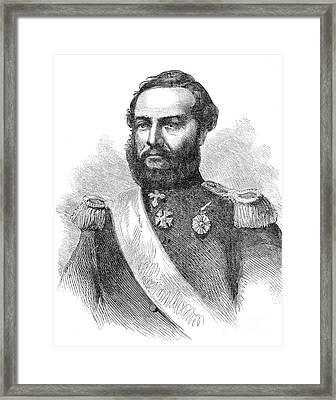 Francisco Solano Lopez Framed Print by Granger