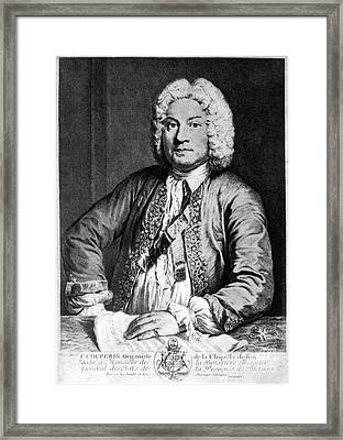 Francois Couperin (1668-1733). French Composer And Organist. Copper Engraving, 1725, By Joseph Flipart After A. Bouys Framed Print by Granger