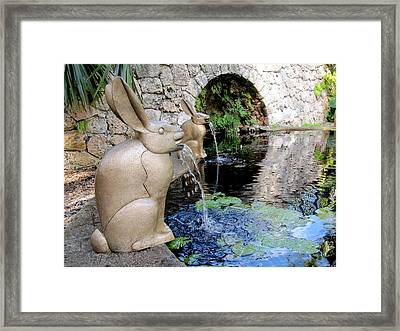 Francois-xavier Lalanne Bunnies Framed Print by Rosie Brown