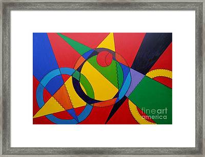 Framed Print featuring the painting Frankenball by Julie Brugh Riffey