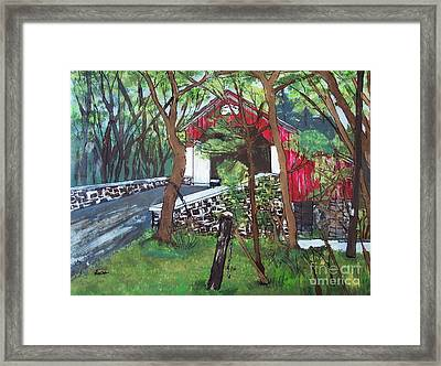 Frankenfield Covered Bridge Framed Print