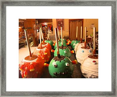 Frankenstein Candy Apples Framed Print