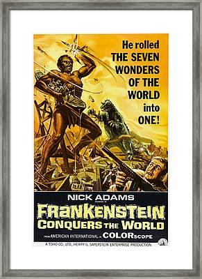 Frankenstein Conquers The World, Aka Framed Print by Everett