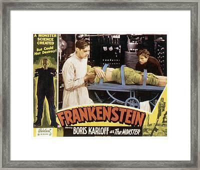 Frankenstein, From Left Boris Karloff Framed Print