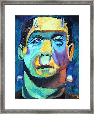 Frankenstein In Colour Framed Print by Jacquie Waldman