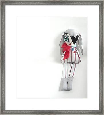 Frankie Framed Print by Oddball Art Co by Lizzy Love