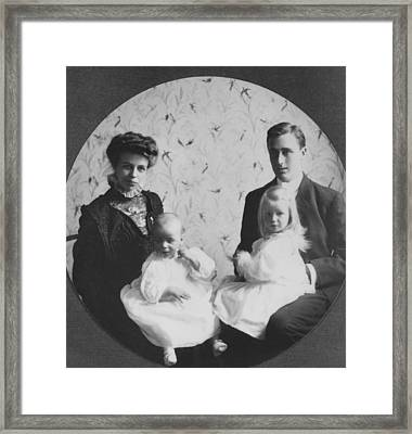 Franklin D. Roosevelt And Young Wife Framed Print