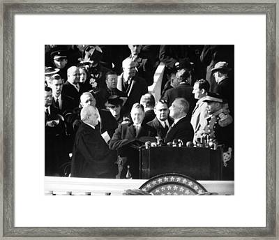 Franklin D. Roosevelt Began Framed Print by Everett