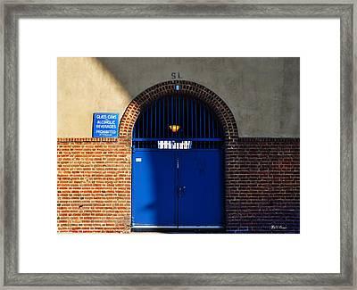 Franklin Field - Gate Sl Framed Print by Bill Cannon