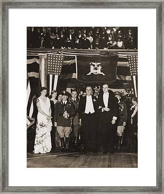 Franklin Roosevelt Inaugurated Framed Print by Everett