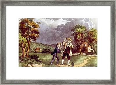 Franklins Experiment, June 1752 Framed Print