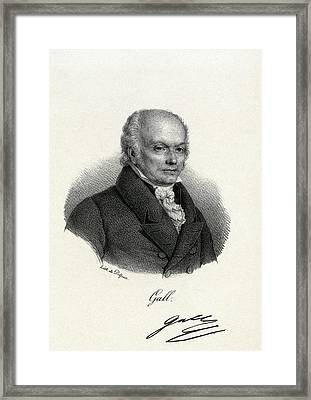 Franz Gall, German Physiologist Framed Print by Miriam And Ira D. Wallach Division Of Art, Prints And Photographsnew York Public Library