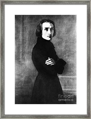 Franz Liszt, Hungarian Composer Framed Print by Omikron