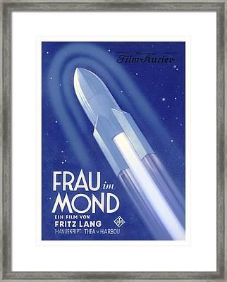 Frau Im Mond Advert, 1929 Framed Print