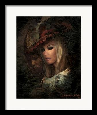 Ostrich Feathers Mixed Media Framed Prints