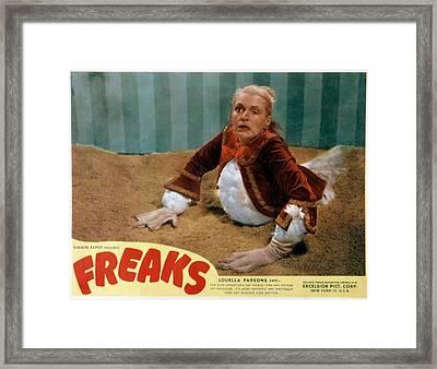 Freaks, Olga Baclanova, 1932, Disfigured Framed Print