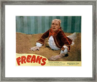 Freaks, Olga Baclanova, 1932, Disfigured Framed Print by Everett