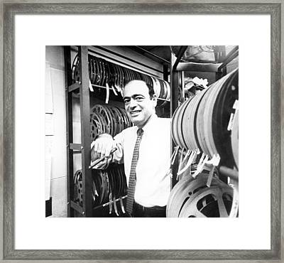 Fred Freed In The 1960s Framed Print by Everett