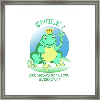 Fred The Frog Framed Print by John Keaton