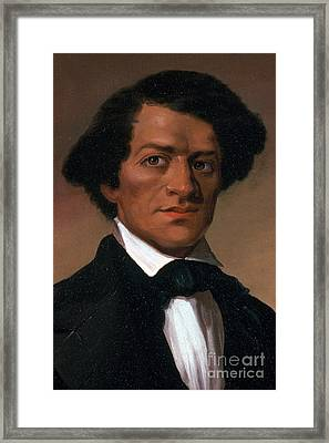 Frederick Douglass, African-american Framed Print by Photo Researchers