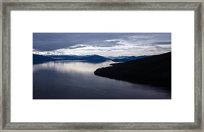 Frederick Sound Morning Framed Print by Mike Reid