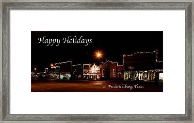 Fredericksburg Lights Framed Print