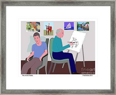 Fred's Studio Framed Print