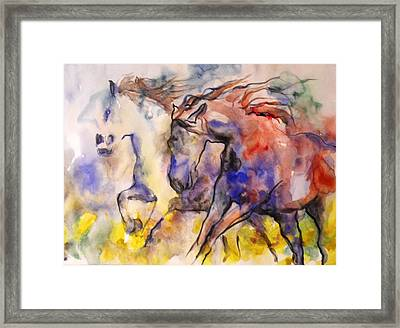 Framed Print featuring the painting Free Spirits by Koro Arandia