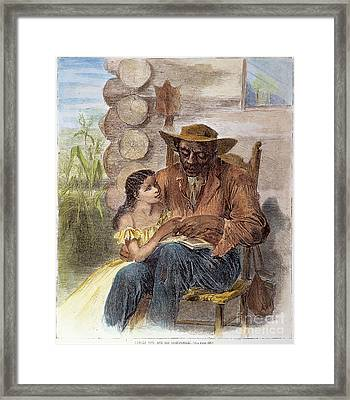 Freedman Reading, 1866 Framed Print