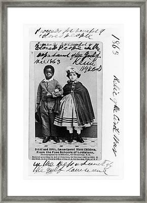 Freedmen School, 1863 Framed Print