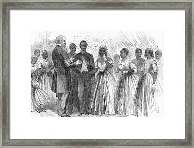 Freedmen: Wedding, 1866 Framed Print