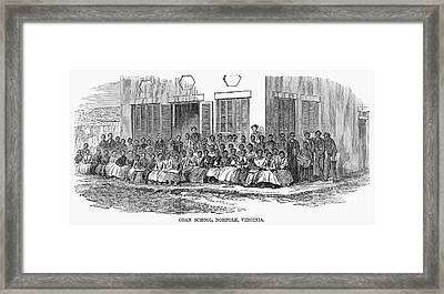 Freedmens School, 1868 Framed Print by Granger