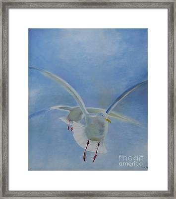 Framed Print featuring the painting Freedom by Annemeet Hasidi- van der Leij