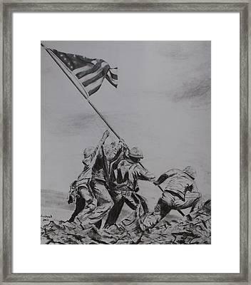 Freedom Framed Print by Brian Hustead