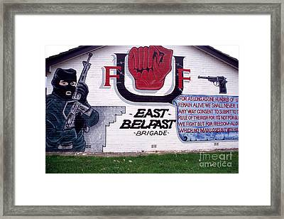 Freedom Corner Mural Belfast Framed Print by Thomas R Fletcher
