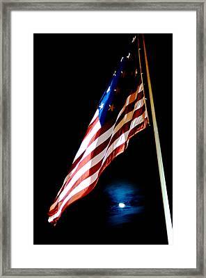 Flag On Federal Hill Framed Print