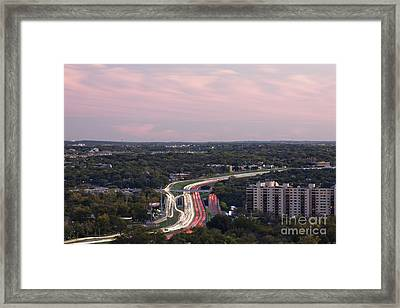Freeway At Night Framed Print by Jeremy Woodhouse
