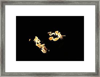 Freeze Fire 2 Framed Print