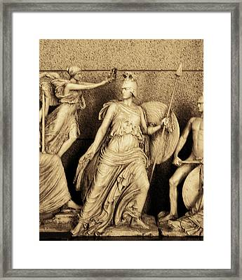Freeze From Parthemon 2 Sepia Framed Print