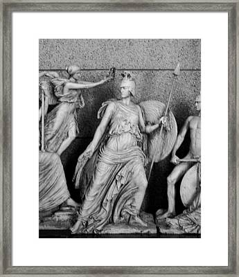 Freezr From Parthenon 2 Bw Framed Print