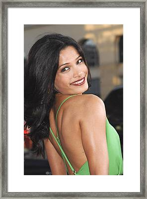 Freida Pinto At Arrivals For Rise Of Framed Print